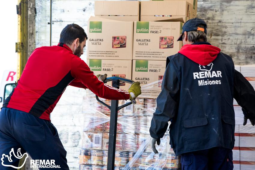 remar ong contenedores ayuada humanitaria productos primera necesidad
