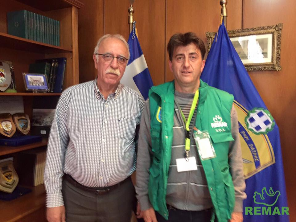 Director de Remar Rumania junto con el Vice ministro de Defensa Griego.